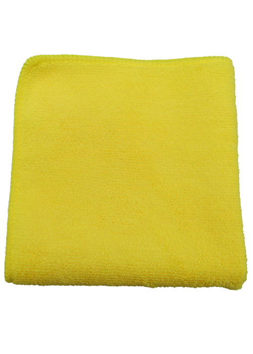 Close up view of micro fiber towel