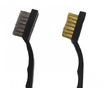 brass and stainless steel brushes with soft bristles