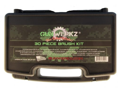 30 piece brush kit label on front of case